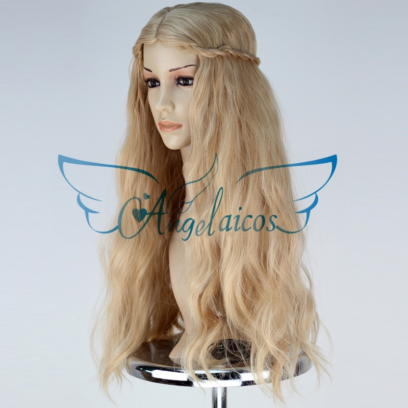 Blonde Curly Halloween Wigs 68