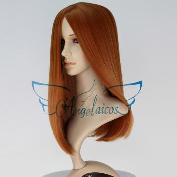 Angelaicos Women's Orange Halloween Party Cosplay Wigs