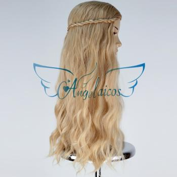 Angelaicos Women's Long Curly Blonde Halloween Party Costume Cosplay Wig