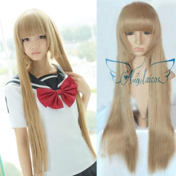 Angelaicos Women's Straight Long Blonde Wig
