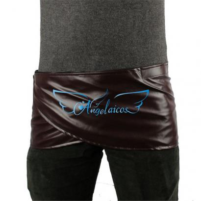 Angelaicos Unisex Short Faux Leather Brown Miniskirts Skirts
