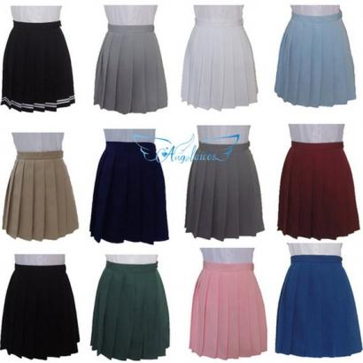 Angelaicos Women's Classic Style School Uniform Short Skirts