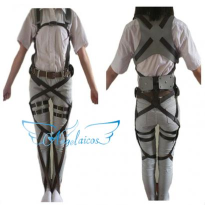 Angelaicos Unisex Attack on Titan Leather Belts Bandage Harnesses