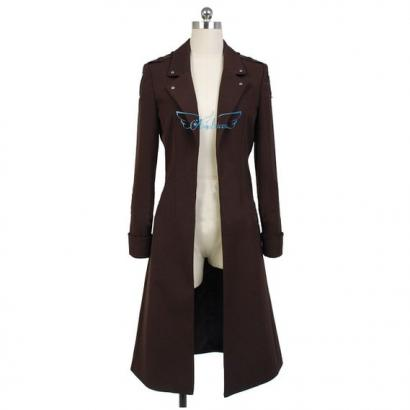 Angelaicos Unisex Halloween Costume Brown Fitted Long Robe Outwear