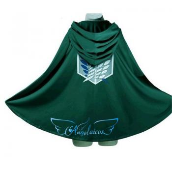Angelaicos Unisex Long Sleeve Shingeki No Kyojin Cloak Cape Clothing Deep Green