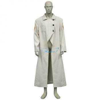 Angelaicos Men's Halloween Cosplay Show Costume Windbreaker Long Beige