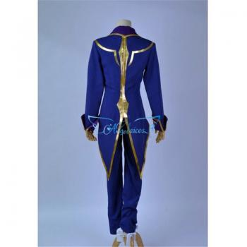 Angelaicos Men's Halloween Party Dress up Costume Suits Cloak Blue