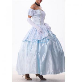 Angelaicos Women's Court French Maid Apron Costume Dress Petticoat