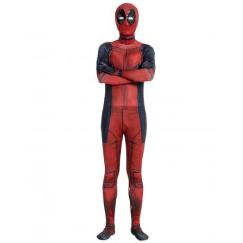 Angelaicos Unisex Black Red Bodysuit Costume