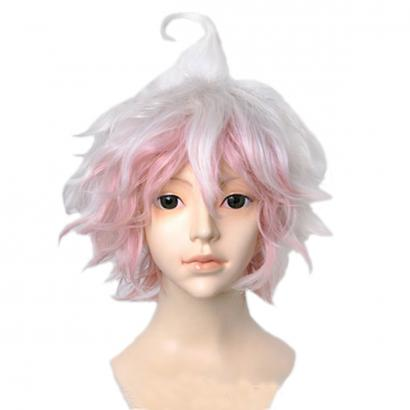 Angelaicos Men's Short Pink White Costume Party Cosplay Wigs