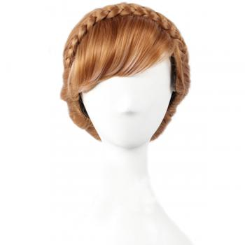 Angelaicos Women's Long Brown Updo Braid Girls Party Cosplay Wigs
