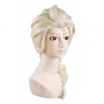 Angelaicos Women's Long Blonde Weaving Braid Cosplay Full Wig