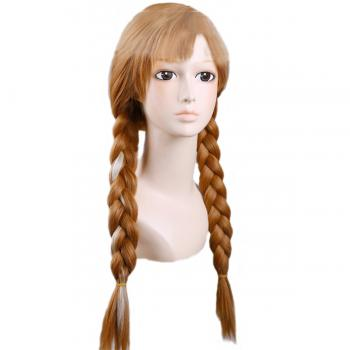 Angelaicos Women's Long Brown Braid Halloween Cosplay Wig Costume