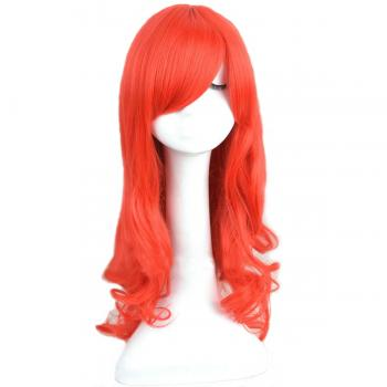 Angelaicos Women's Long Red Wavy Costume Cosplay Wig