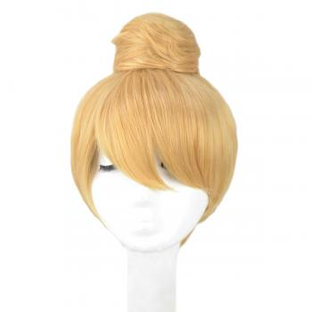 Angelaicos Women's Short Blonde Updo Costume Cosplay Wigs