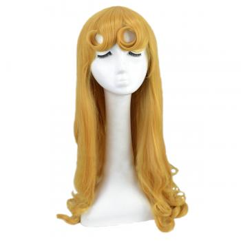 Angelaicos Women's Long Yellow Party Cosplay Wigs
