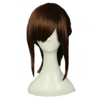 Angelaicos Women's Ponytail Halloween Costume Party Brown Wig