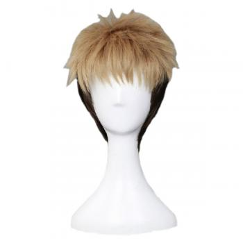 Angelaicos Men's Short Blonde Black Cosplay Wig