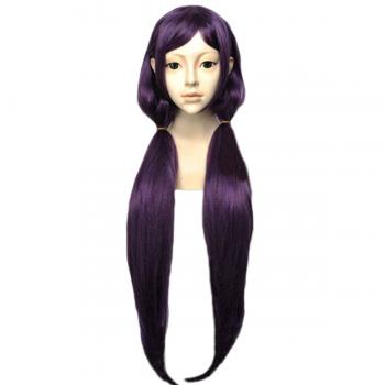 Angelaicos Women's Purple 2 Ponytails Haloween Cosplay Wigs