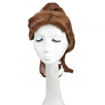 Angelaicos Women's Halloween Cosplay Brown Ponytail Medium Wig