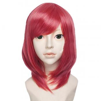 Angelaicos Women's Short Red Anime Halloween Party Cosplay Wig