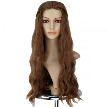 Angelaicos Women's Queen Curly Braid Halloween Costume Cosplay Wig